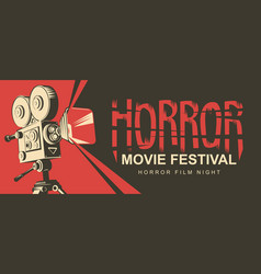 Horror movie festival scary cinema poster vector