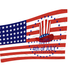independence day american symbols on the vector image
