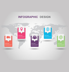infographic design template with shadow vector image