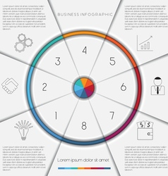 Infographic template on 8 positions vector image