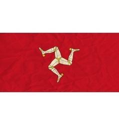 Isle mann paper flag vector