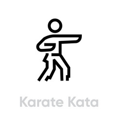 Karate kata sport icons vector