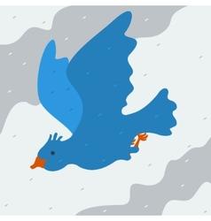kind bird flying in sky vector image