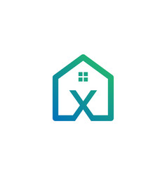 Letter x architect home construction creative vector