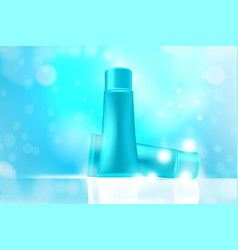 luxury cosmetic bottle package skin care cream vector image