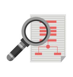 magnifying glass cartoon vector image