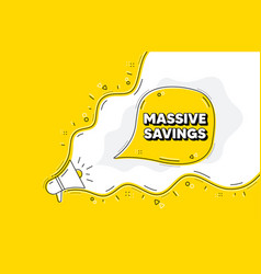 Massive savings special offer price sign vector