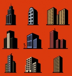 modern buildings vector image