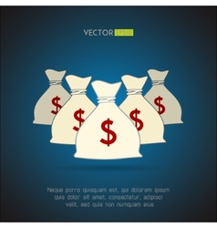 Money bags with dollar sign background vector