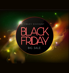 neon sign black friday big sale open vector image