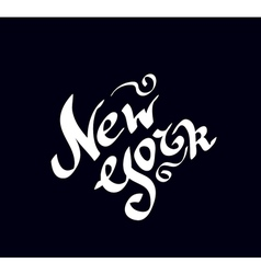 New York hand drawn bright text vector image