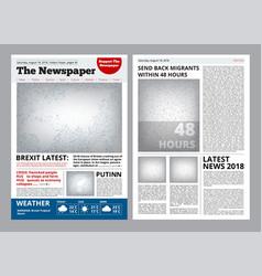 Newspaper design headline journal template vector