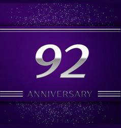 Ninety two years anniversary celebration design vector