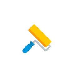 Paintbrush icon flat element vector