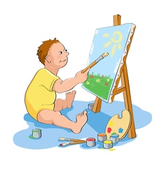 Painting boy vector