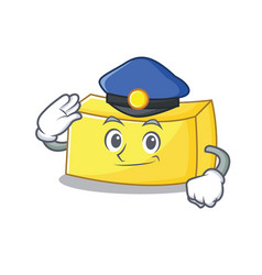 Police butter character cartoon style vector