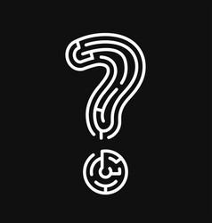 question as a maze vector image