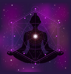 Sacred geometry zen vector