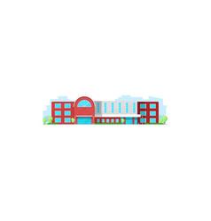 School building college or university education vector