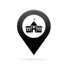 school map pointer icon marker gps location flag vector image
