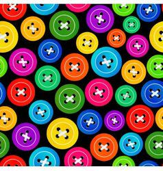 Seamless pattern with colored buttons vector image