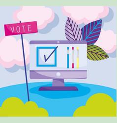 Selecting online politics election democracy vector