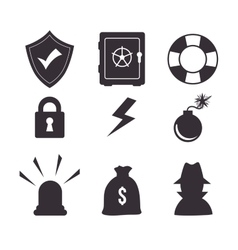 set icon insurance protection design vector image