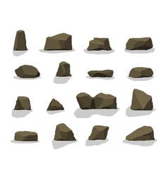 set of rock stones vector image