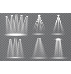 set scene illumination transparent effects vector image