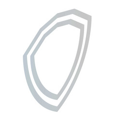 shield icon isometric style vector image