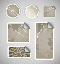 Shopping vintage scratched discount stickers vector