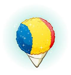 snow cone cartoon vector image