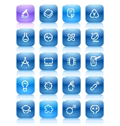Stencil blue buttons for science vector