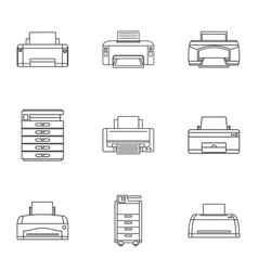 Technical specialist icons set outline style vector