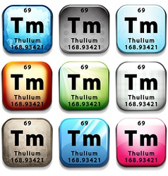 The chemical element thulium vector