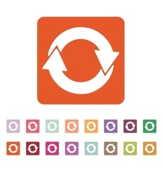 The recycling icon Eco and ecological cycle vector image