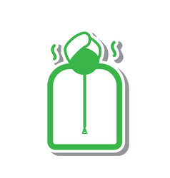 Thin line sauna icon vector