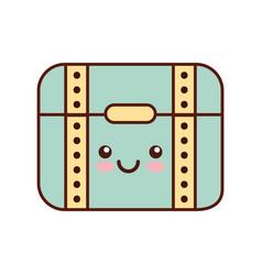 treasure chest game kawaii character vector image