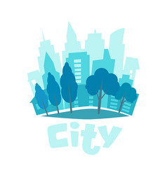 urban landscape in flat style city skyline vector image