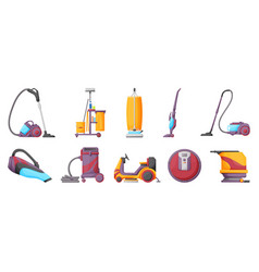 Vacuum cleaner cartoon on vector