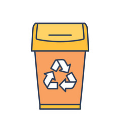 waste container dustbin trash or garbage can vector image