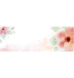 watercolor with flower and leaves vector image