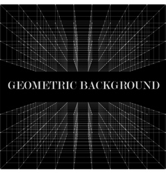 3D Abstract geometric background vector image