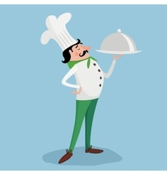Chef with plate vector image