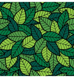 Leafs Seamless Pattern Spring vector image vector image