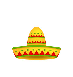 Mexican Hat Sombrero Isolated on White Background vector image