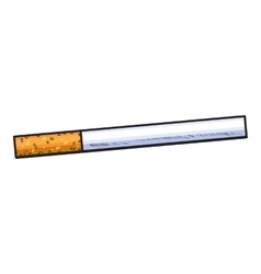 Unlit cigarette with yellow filter side view vector image vector image