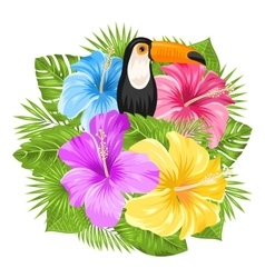 Beautiful Exotic Jungle Background vector image vector image
