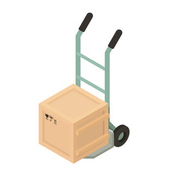 box cart icon isometric style vector image