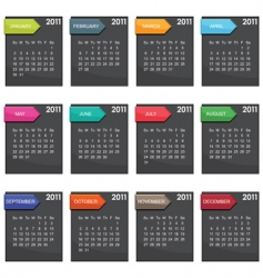 calender for 2011 vector image vector image